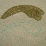 Cutting out the applique patch