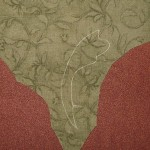 Marking the applique fabric