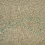 Marking the background fabric
