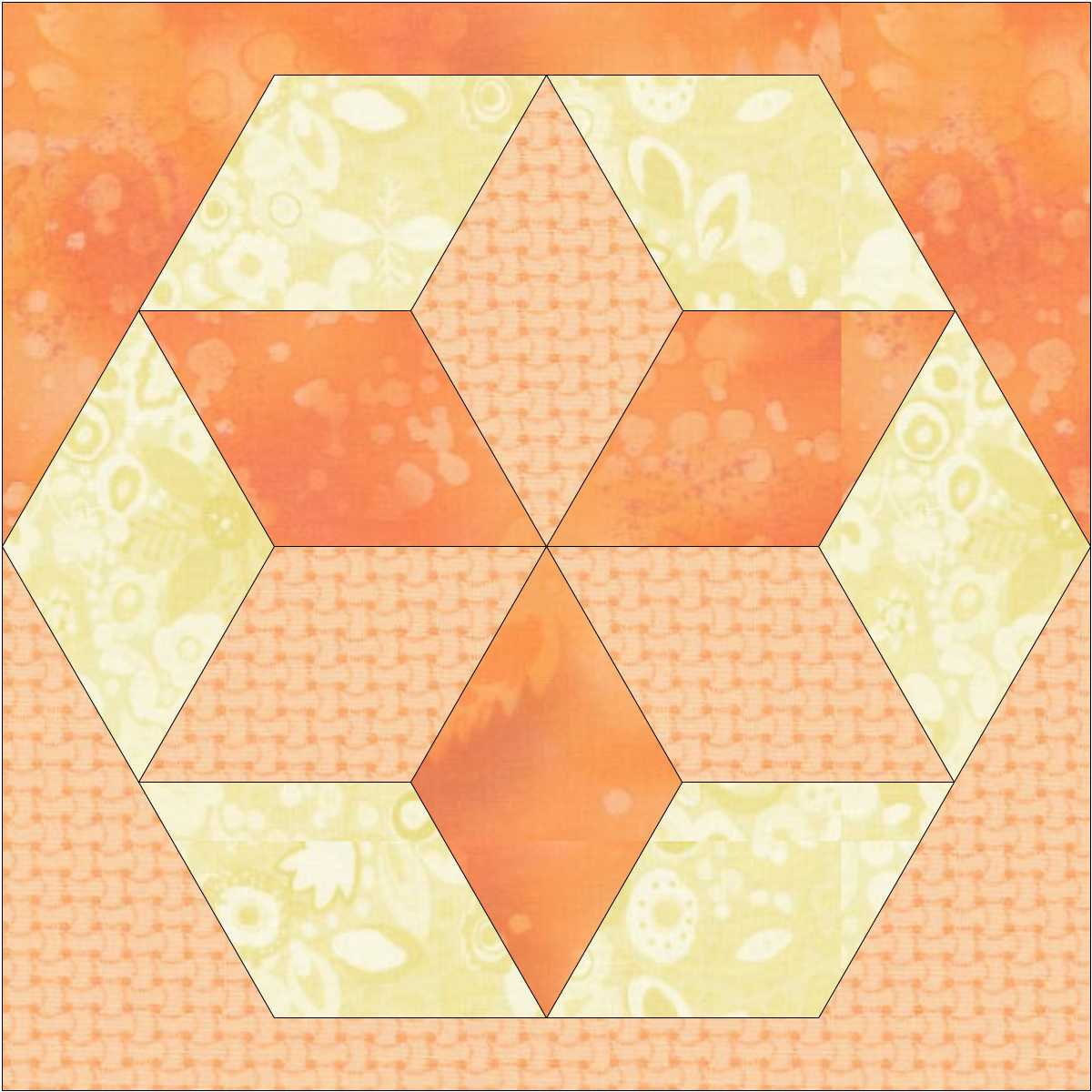 Kathy K. Wylie Quilts – More Hexagons in Quilts : hexagon star quilt pattern - Adamdwight.com