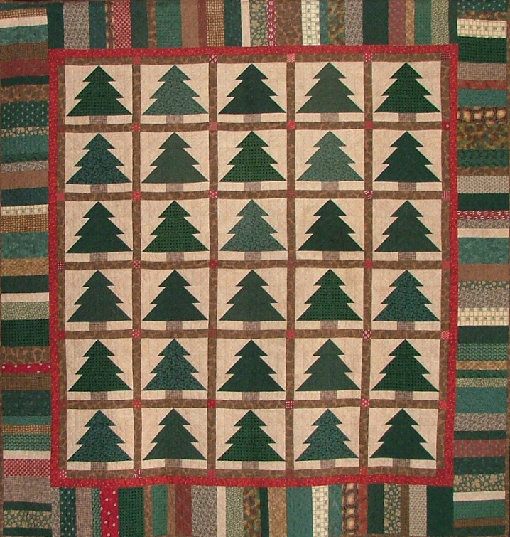 Pine Tree Quilt Block & Pine Trees Quilt | World In Stitches : pine tree quilts - Adamdwight.com