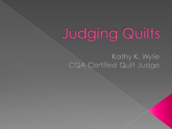 Judging Quilts