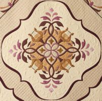 Lyre block quilted web